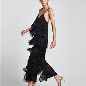 Zara fringe jumpsuit